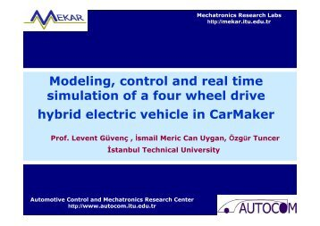 Modeling, control and real time simulation of a four wheel drive ... - IPG
