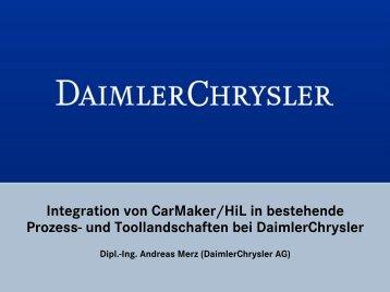Einbindung von CarMaker/HIL - IPG