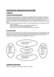 Fachkraft für Arbeitssicherheit (FASI) - isa - international security ...
