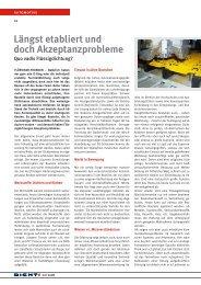 Längst etabliert und doch Akzeptanzprobleme. Quo ... - Isgatec GmbH