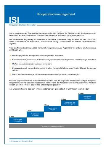 Kooperationsmanagement - ISI Management Consulting GmbH