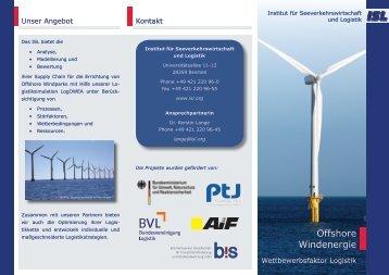 Offshore Windenergie - Institut für Seeverkehrswirtschaft und Logistik