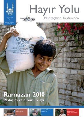 Ramazan 2010 Paylaşım ve duyarlılık ayı