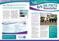 NS FRITS Summer Newsletter 2009
