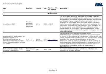 Neuerwerbungen 4. Quartal 2012 2009 Link zum Volltext Seite 1 ...