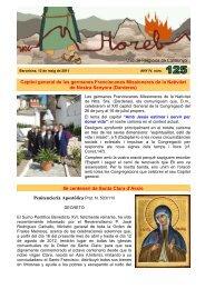 Horeb ANY IV. núm. 125 - Unió de Religiosos de Catalunya - Confer