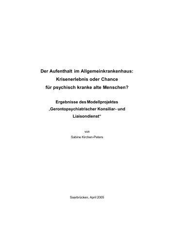 Der Aufenthalt im Allgemeinkrankenhaus - Institut für ...