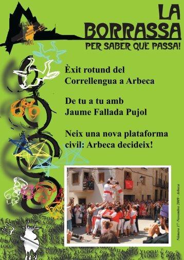 Núm 17 - Novembre 2009 - Ajuntament d'Arbeca