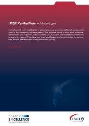 ISTQB® Certified Tester – Advanced Level E CELLENCE - iSQI