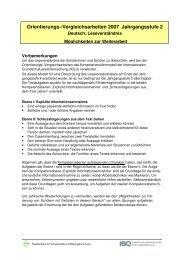 Deutsch 2007 - Möglichkeiten zur Weiterarbeit