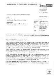 Begleitschreiben SenBJW VERA Informationsbroschüre - Institut für ...