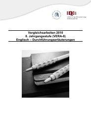 Vergleichsarbeiten 2010 8. Jahrgangsstufe (VERA-8) Englisch ...