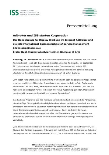 Lebenslauf Michael René Weber Pdf Iss International Business