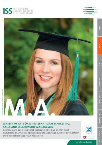 MASTER of ARTS (MA) - ISS International Business School of ...