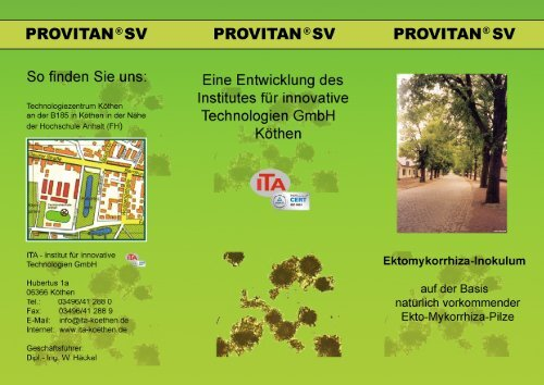 provitan ®sv provitan ® sv provitan ® sv - Institut für innovative ...