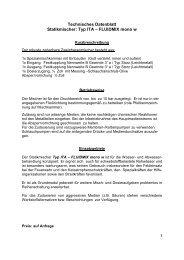 Technisches Datenblatt Statikmischer: Typ ITA – FLUIDMIX mono w
