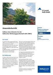 Anwenderbericht HWG mbH (Intranet) - IT-Consult Halle GmbH
