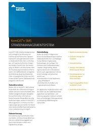 Flyer KomGIS®+ Strassenmanagement - IT-Consult Halle GmbH