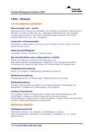 CMS+ Module - IT-Consult Halle GmbH