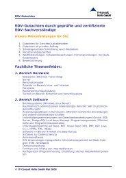 Dienstleistungskatalog - IT-Consult Halle GmbH