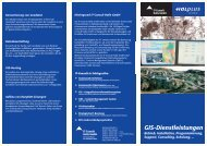 Flyer GIS-Dienste - IT-Consult Halle GmbH