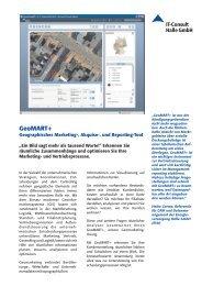 Datenblatt Geomarketing - IT-Consult Halle GmbH