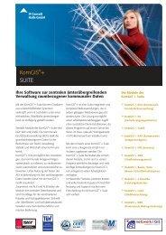 Flyer KomGIS®+ Suite - IT-Consult Halle GmbH