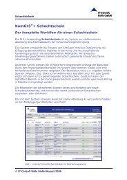 KomGIS®+ Schachtschein - IT-Consult Halle GmbH