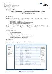 Dokumentation EnTIS+ Licht - IT-Consult Halle GmbH