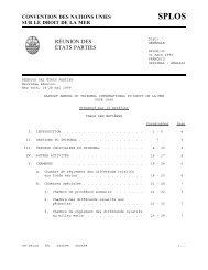 RÉUNION DES ÉTATS PARTIES - International Tribunal for the Law ...