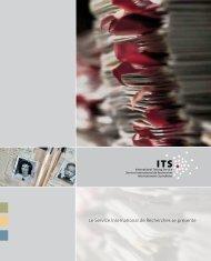 Le Service International de Recherches se présente