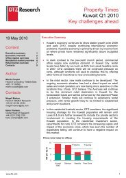 market report on Kuwait for the period Q1 2010 - Visit the global site
