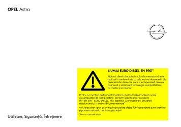 Astra H Manual - Opel