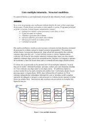Liste multiplu inlantuite. Structuri multilista