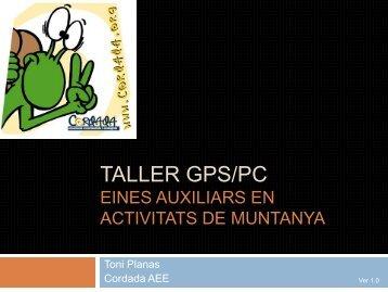 TALLER GPS/PC - Senderisme - Toni Planas