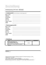 Bestellformular Arbeitshilfe Grundwasseraufbereitung - ITVA