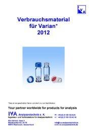 Varian - IVA-Analysentechnik