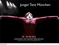 Festival Junger Tanz München - Iwanson