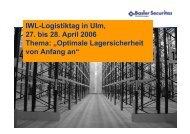 Optimale Lagersicherheit von Anfang an - IWL AG