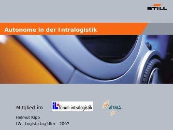 """Helmut Kipp, STILL - """"Autonome in der Intralogistik"""""""