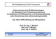 Betriebsverhalten WhisperGen - IWO