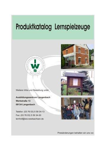Katalog Lernspielzeuge.cdr - Iws Westsachsen