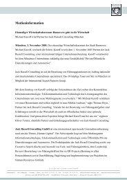 Michael Karoff wird Partner bei Jack Russell Consulting München