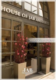 Infoflyer HOUSE OF JAB ANSTOETZ
