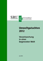 Umweltgutachten 2012 Verantwortung in einer begrenzten Welt