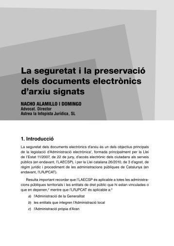 La seguretat i la preservació dels documents electrònics - Astrea. La ...