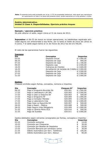 1 Ámbito Administrativo. Unidad II Clase 4 ... - centro 26