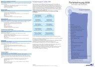 Übersicht Ferienbetreuungs-Angebote 2009 (pdf, 214 ... - Stadt Aalen