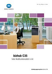 bizhub C35 - Jahn Büroorganisation GmbH