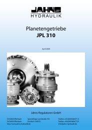 Planetengetriebe JPL 310 - Jahns-Regulatoren GmbH